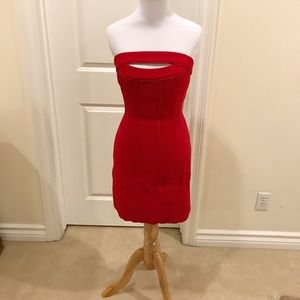 Bcbg Max Azria Rio Red Cocktail dress NWT
